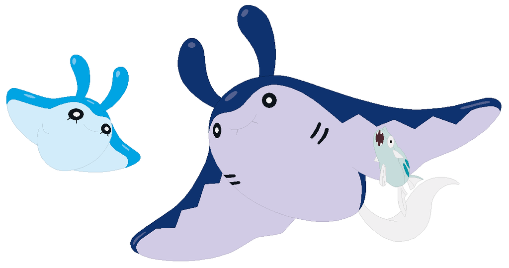1024x539 Mantyke And Mantine Base By Selenaede