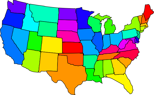 600x371 United States Map Clipart Amp Look At United States Map Clip Art