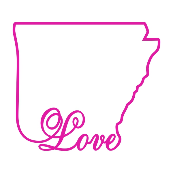 600x600 Arkansas Home State Svg Cuttable Designs