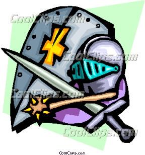 288x308 Knight's Armor Clip Art