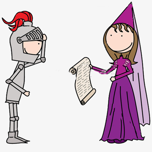 500x500 Knight With Princess, Knight, Armor, Cartoon Png Image And Clipart