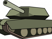 220x165 Army Tank Clipart Army Tank Retro An Army Tank In Retro Style Clip