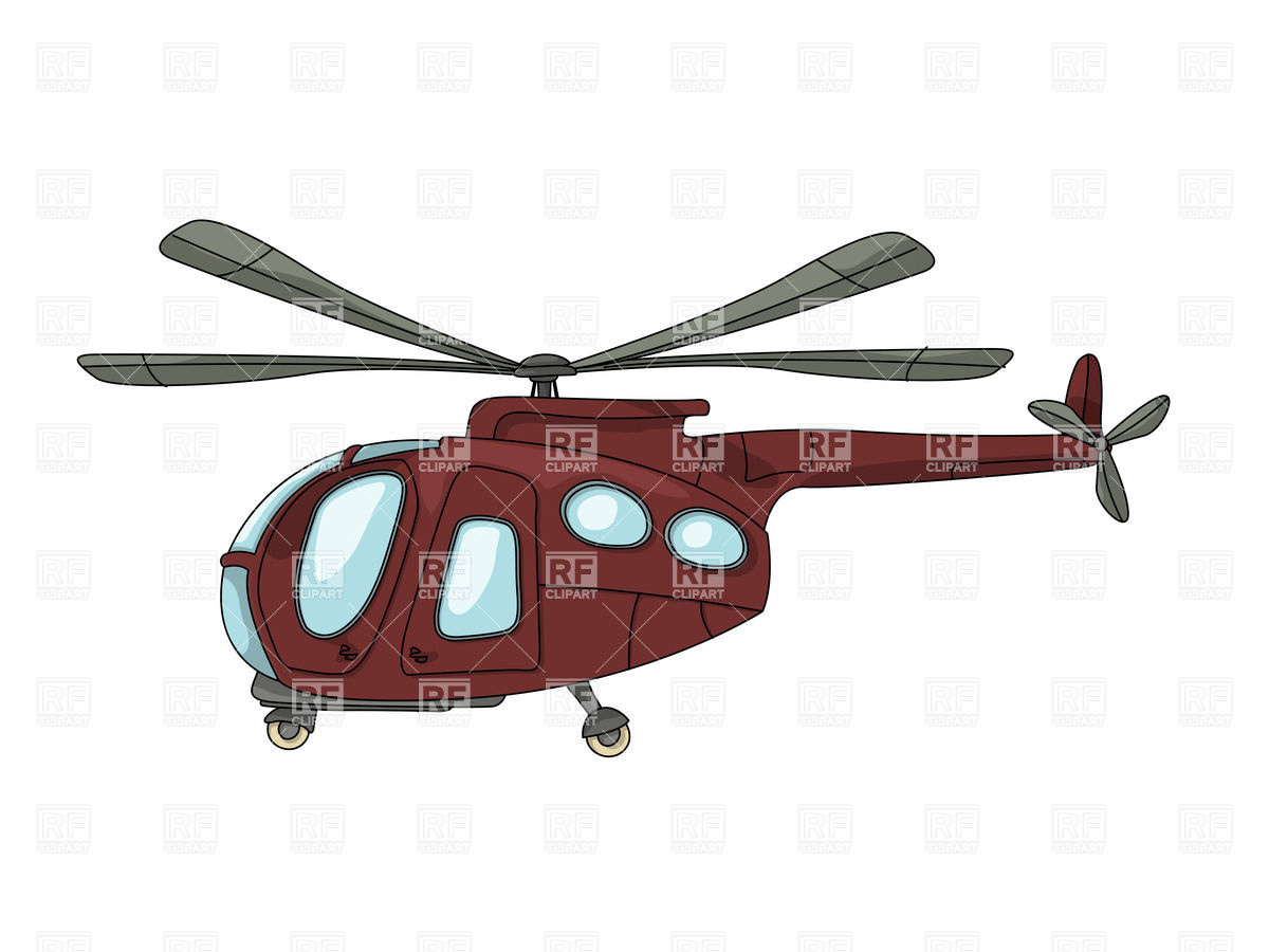 1200x900 Cartoon Drawing Of Brown Helicopter Royalty Free Vector Clip Art