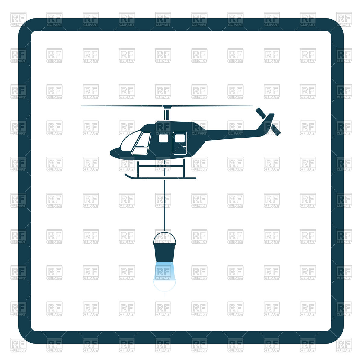 1200x1200 Fire Service Helicopter Icon Royalty Free Vector Clip Art Image