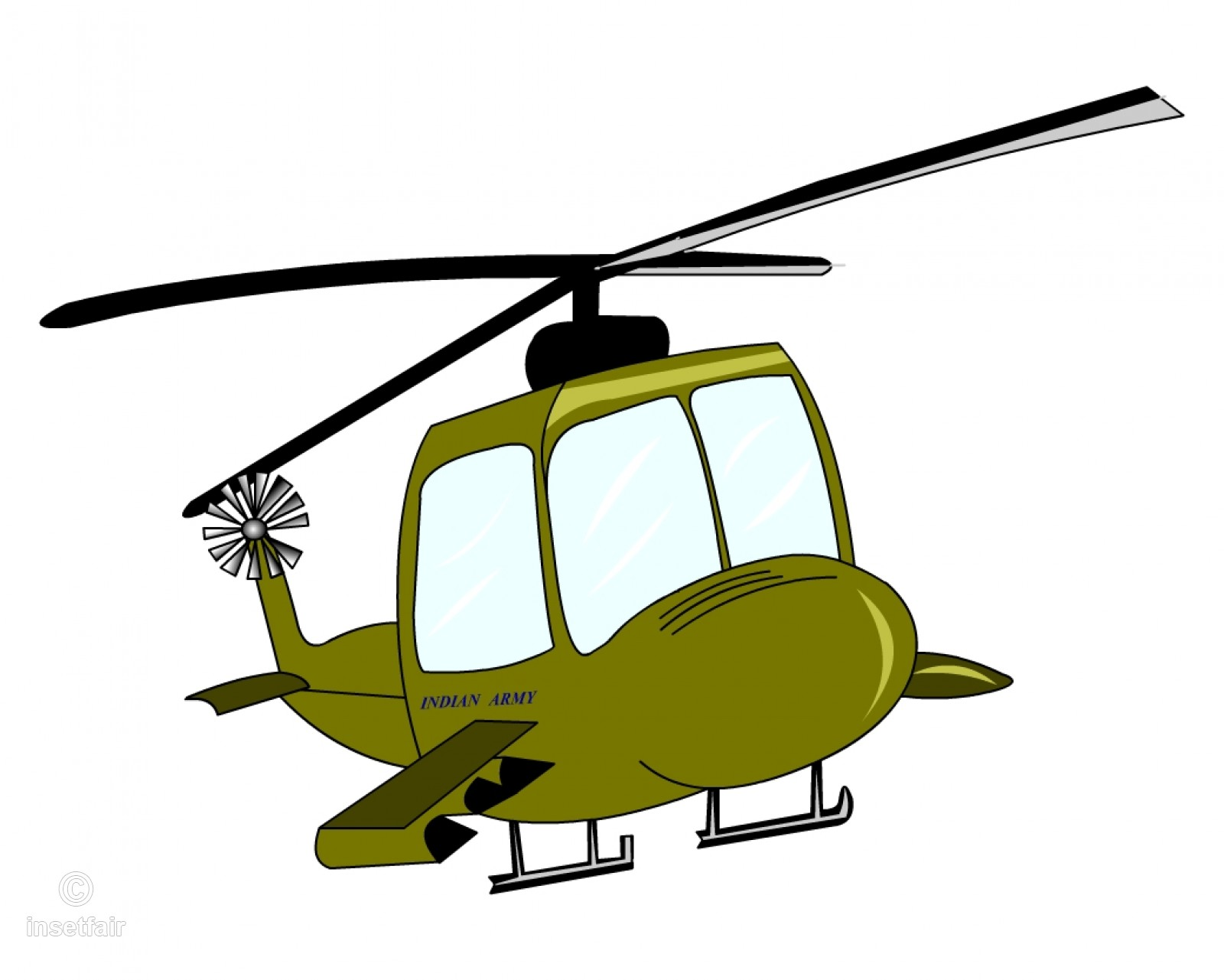 1600x1281 A Vector Illustration Of Cartoon Helicopter Flying Up