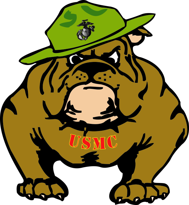 610x662 Army Clipart Bulldog