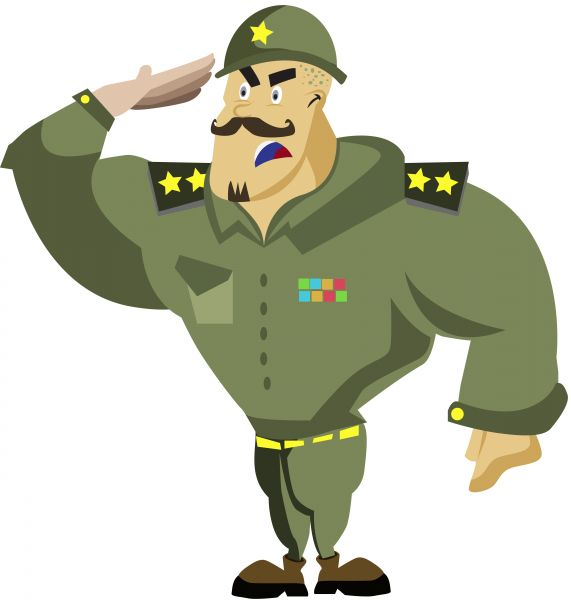571x600 Army Clipart