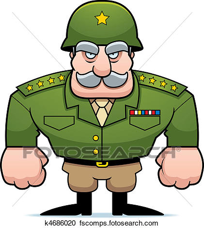 421x470 Army Commander Clipart