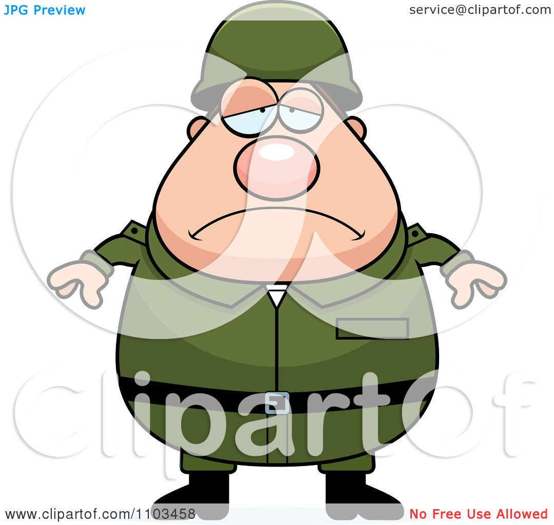 1080x1024 Clipart Depressed Chubby Caucasian Army Man