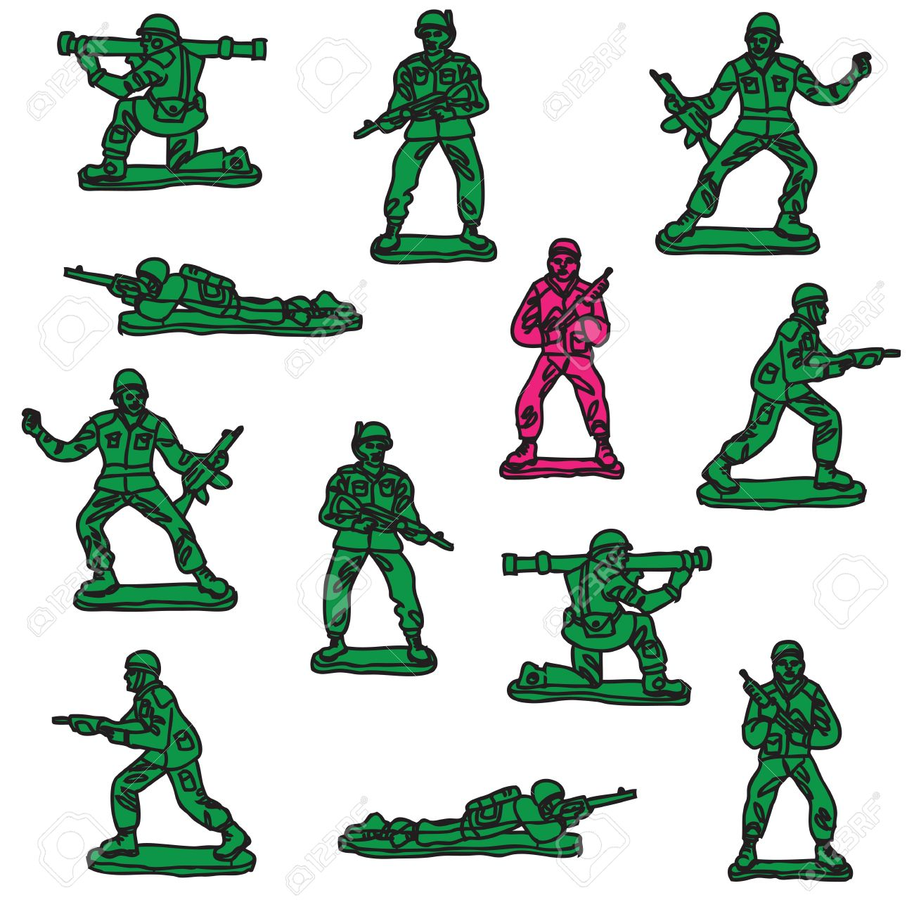 1300x1300 Military clipart toy soldier