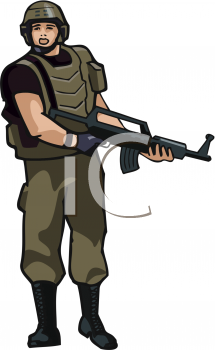 215x350 Royalty Free Soldier Clip art, People Clipart