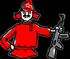 300x254 976 us army soldier clipart Public domain vectors
