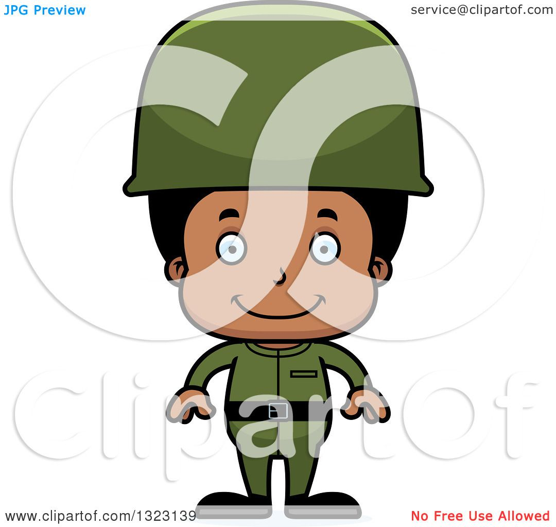 1080x1024 Clipart Of A Cartoon Happy Black Boy Army Soldier