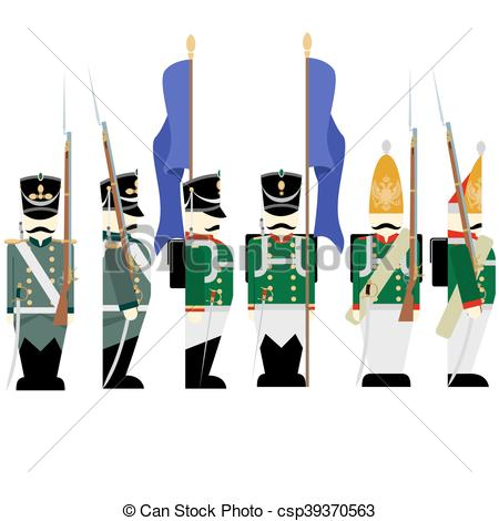 450x470 Military Uniforms Russian Army In 1. Army Soldiers In Clip Art