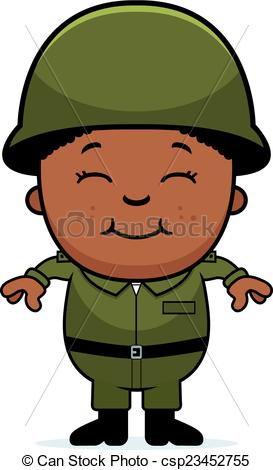 273x470 A Cartoon Illustration Of An Army Soldier Boy Standing