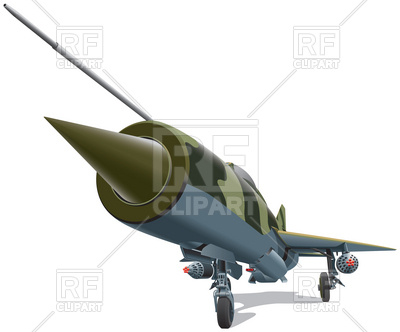 400x332 Old Jet Fighter Of Times Of Cold War Royalty Free Vector Clip Art