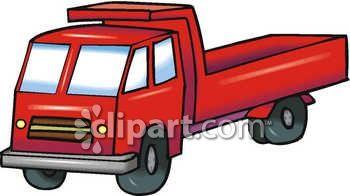 350x196 Royalty Free Clip Art Image An Empty Dump Truck