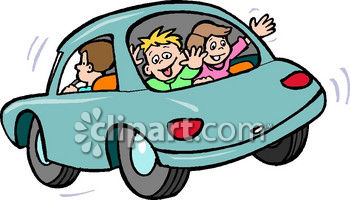 350x200 Clipart Picture Of Kids Waving Out The Back Window Of A Car