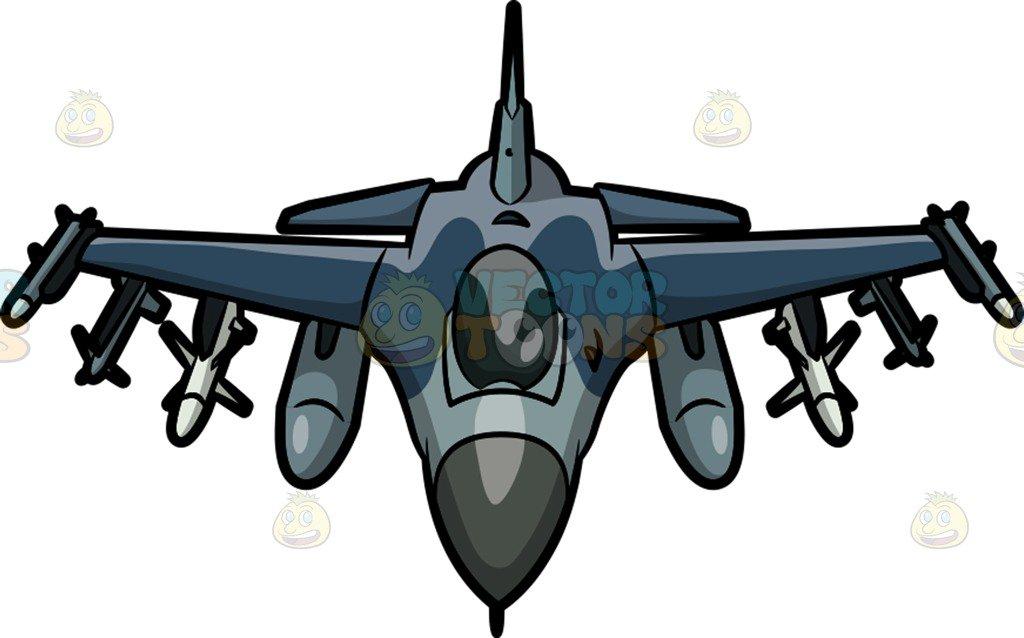 1024x638 An F16 Fighting Falcon Cartoon Clipart Vector Toons