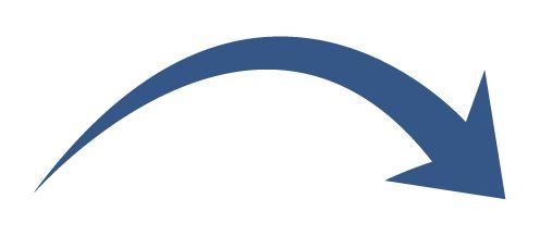 496x217 Curved Arrow Clipart