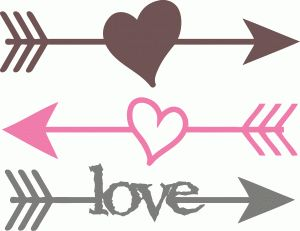 300x231 Hearts Clipart Rustic Heart Pencil And In Color Arrow