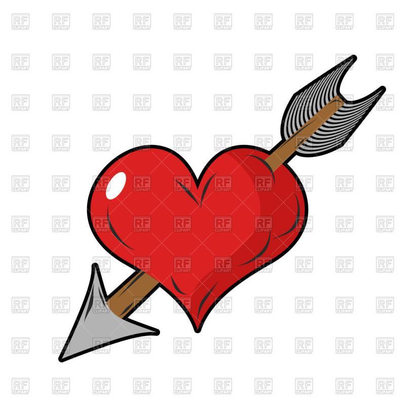 800x800 Heart Arrow Clip Art