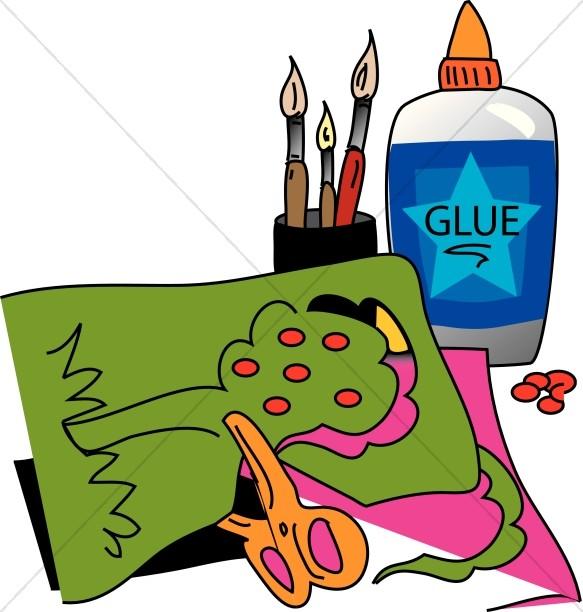 583x612 Top 64 Glue Clip Art