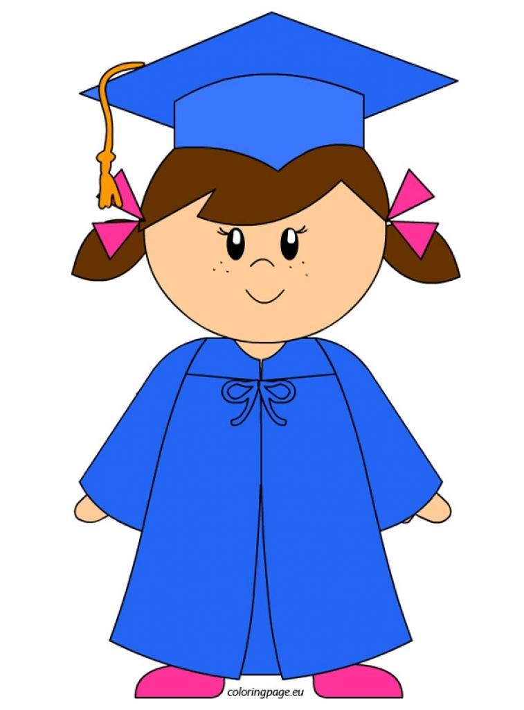 757x1024 Unthinkable Graduation Clipart Girl Graduate Kindergarten Clip Art