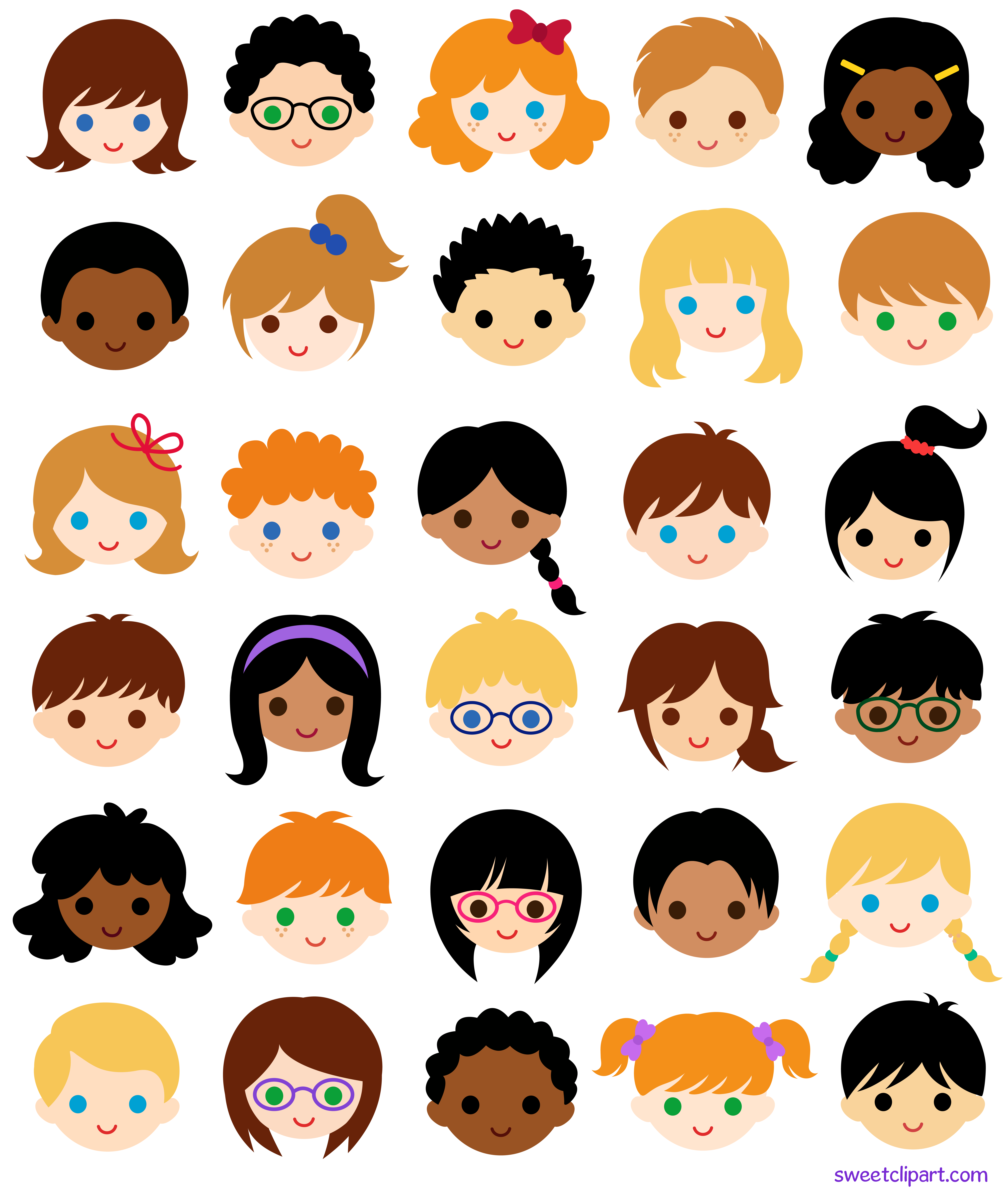 6897x8150 30 Kids Faces In School Classroom