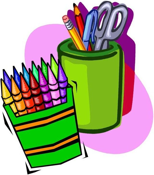 640x730 School Supplies Clip Art Art Supplies Clipart Clipart Panda Free