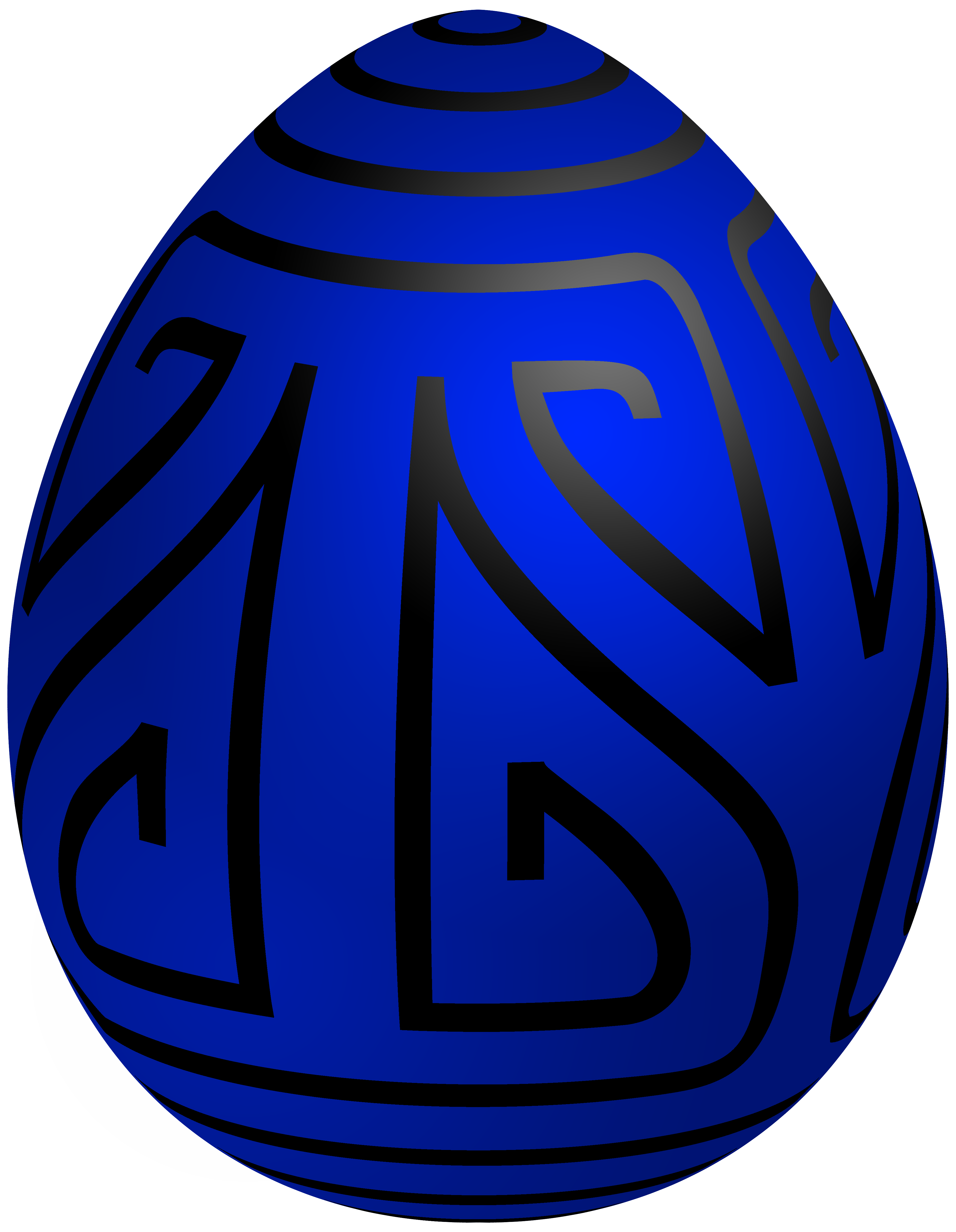 3879x5000 Easter Blue Deco Egg Png Clip Art