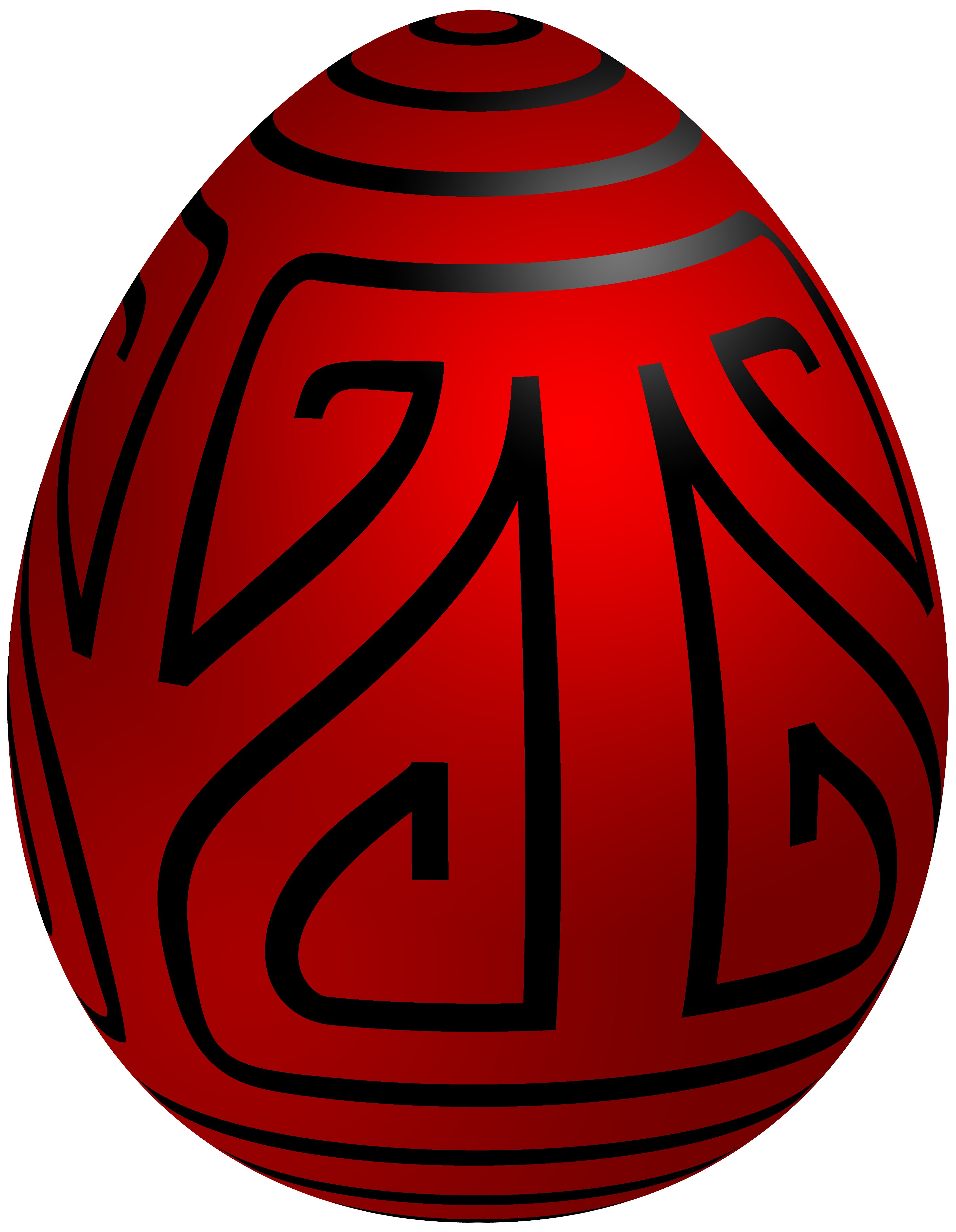 3879x5000 Easter Red Deco Egg Png Clip Art
