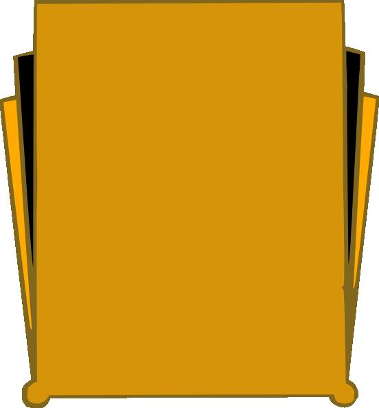 552x595 Gold Art Deco Clip Art