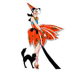 320x320 Quirky Artist Loft Free Vintage Witch Clip Art Halloween