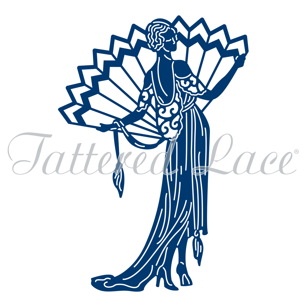 1000x1000 Art Deco Pure Decadence Lady (Tld0019) Tattered Lace