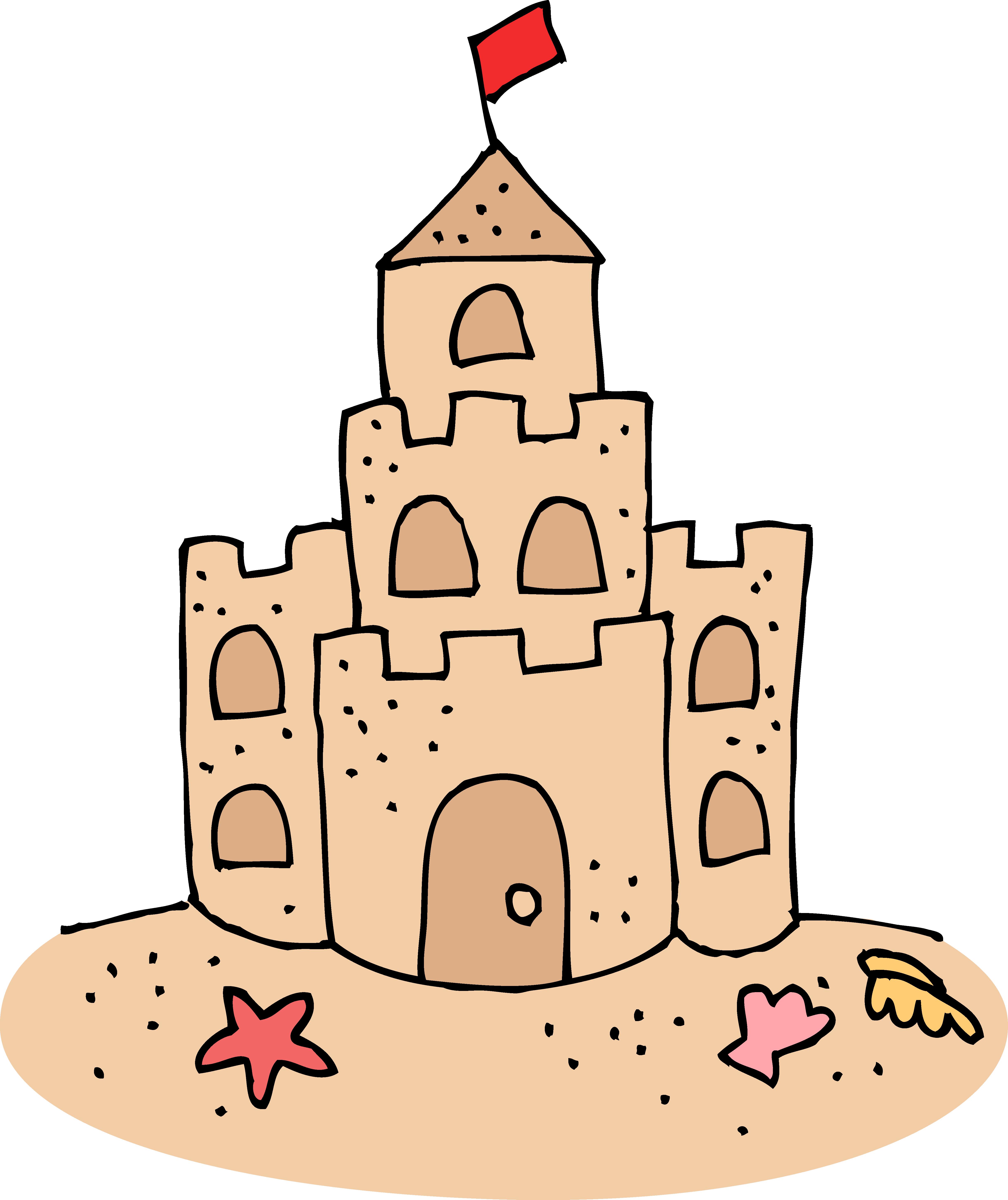 4879x5808 Cute Sand Castle Clipart