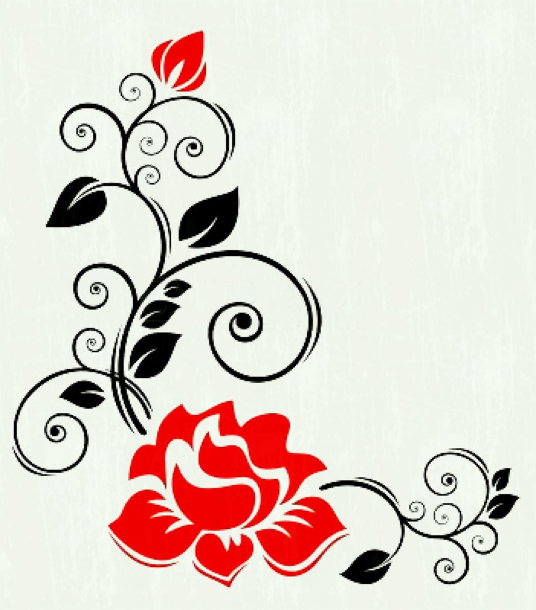 1053x1200 Best Hd Purple Flower Border Clip Art Design Free Vector Top