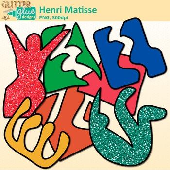 350x350 Henri Matisse Shapes Clip Art Collage Cutout Shapes For Art