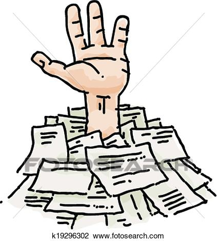423x470 Paperwork Clipart Clipart Of Buried In Paperwork K19296302 Search