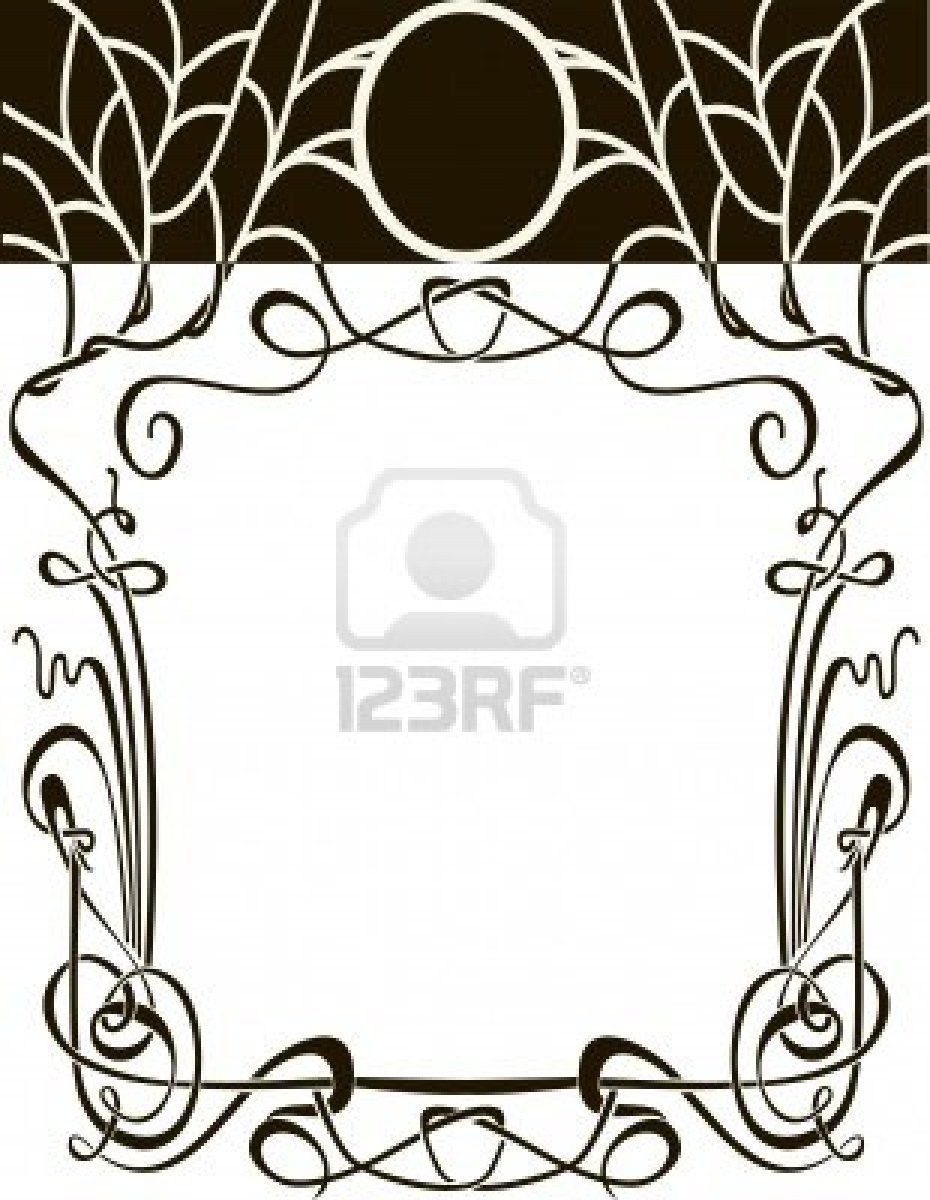 930x1200 Art Nouveau Frame Vector Wedding Background Design Elements