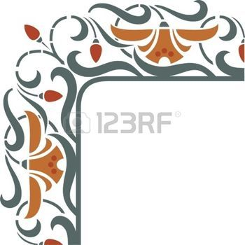 350x350 Art Nouveau Lily Stock Photos, Pictures, Royalty Free Art Nouveau
