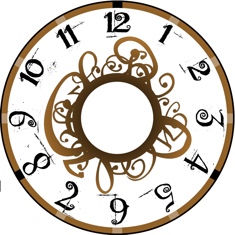 952x952 Antique Clock Face Clip Art