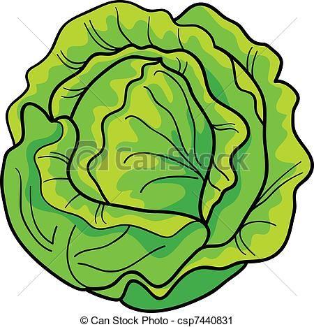 450x468 Beautiful Lettuce Clip Art