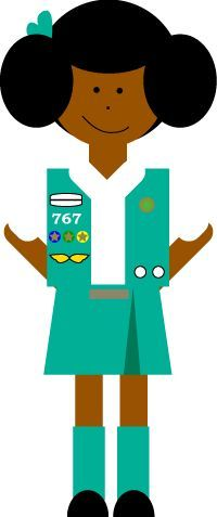 200x477 Clip Art Girl Scout Craft Clipart
