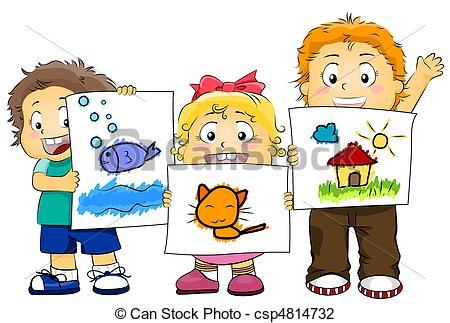 450x323 Artwork Clipart Kid Artworks Illustration Featuring Kids