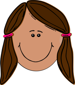 264x297 Brunette Teenager Clip Art
