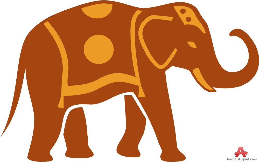 999x624 Elephant With Traditional Carpet Clipart Free Clipart Design