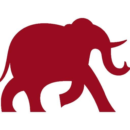 512x512 Red Elephant Clipart