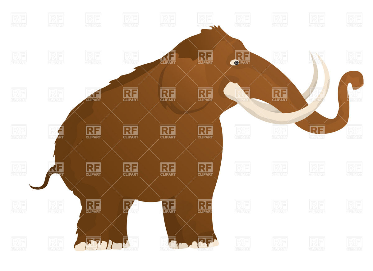1200x873 Woolly Cartoon Mammoth Royalty Free Vector Clip Art Image