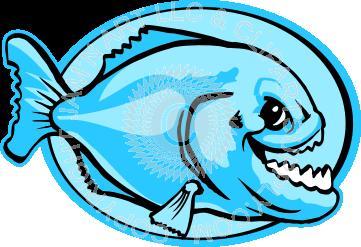 361x247 Clip Art Of Piranha Fish In Color